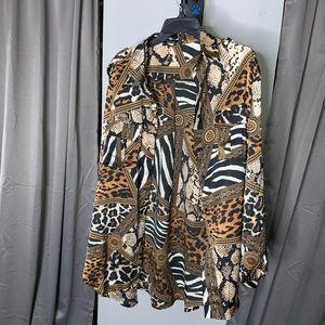 Mixed Animal Woven Shirt